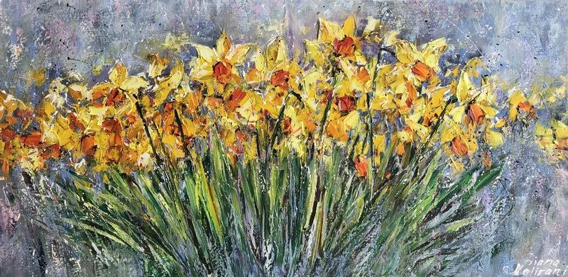 Diana MALIVANI - Pittura - Spring Flowers