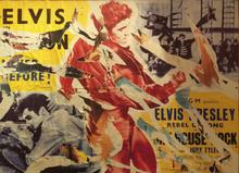 Mimmo ROTELLA (1918-2006) - Il ribelle Elvis