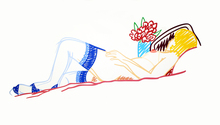 Tom WESSELMANN - Stampa Multiplo - NUDE WITH BOUQUET AND STOCKINGS