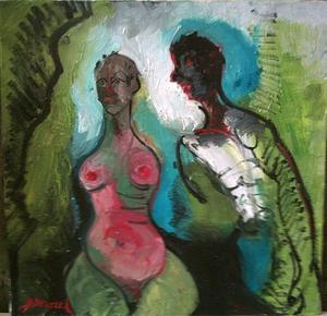 Bernard MOREL - Gemälde - LE COUPLE