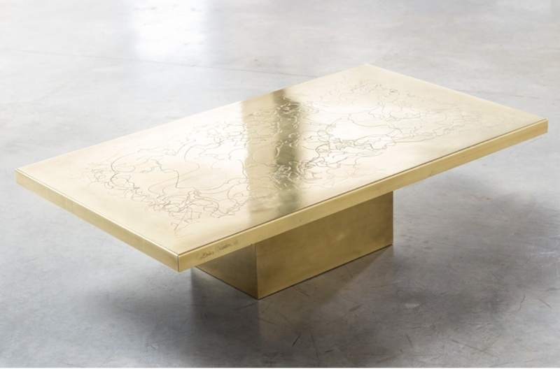 Catherine ROISIN - Messing cocktail table
