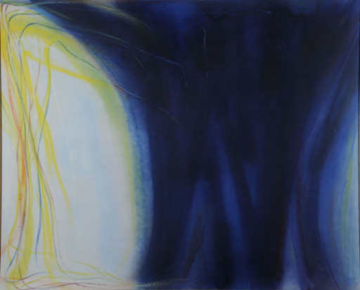 Claudio OLIVIERI - Gemälde - Campo blu