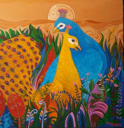 R.U. SUBAGIO - Painting - The faithfull love