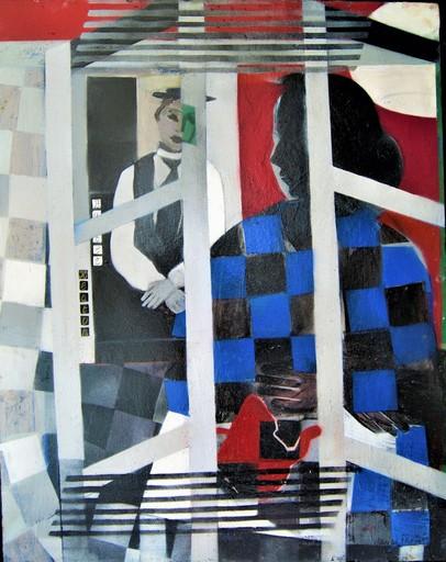 Janine THELIN - 绘画 - Buster Keaton. Cinéma muet