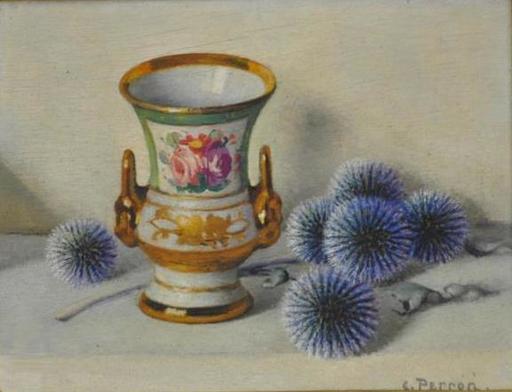 Charles Clément PERRON - Peinture - chardons