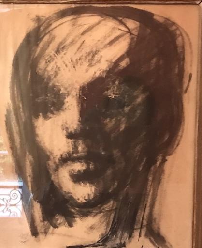 Leonor FINI - Drawing-Watercolor - portrait de femme