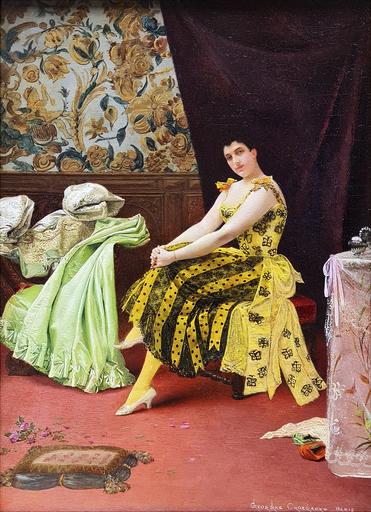 Georges CROEGAERT - Pittura - The Dressing Room