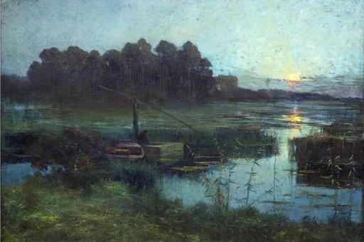 Gustave SMET DE - Peinture - The Eel Fisher