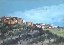 Enotrio PUGLIESE - Painting - Paesaggio calabrese