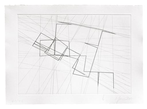 François MORELLET - 版画 - π Piquant