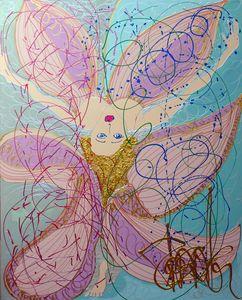 Isa SATOR - Peinture - La Fée électricité    (Cat N° 6744)