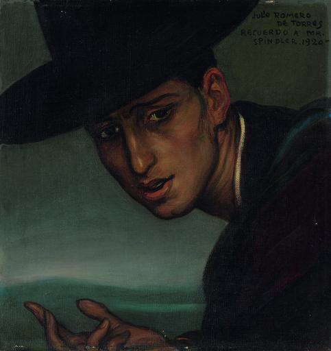 Julio ROMERO DE TORRES - Painting - Retrato de Rafael Romero, el hijo del artista