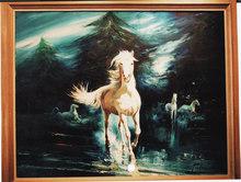 Alfredo PALMERO DE GREGORIO (1901-1991) - Caballos de la Luna - Chevaux de la lune