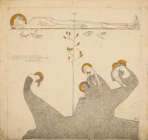Adolfo WILDT - Drawing-Watercolor - MI DOLGON FANCIULLO