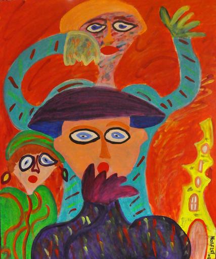 Painting - De Verbazing    (Cat N° 4298)
