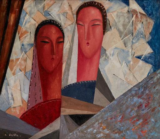 Jean CROTTI - Gemälde - Deux Castillanes