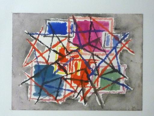 Jean MONTCHOUGNY - Dibujo Acuarela - Abstraction