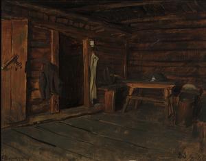 Franz VON DEFREGGER - Pittura - Interno di cucina