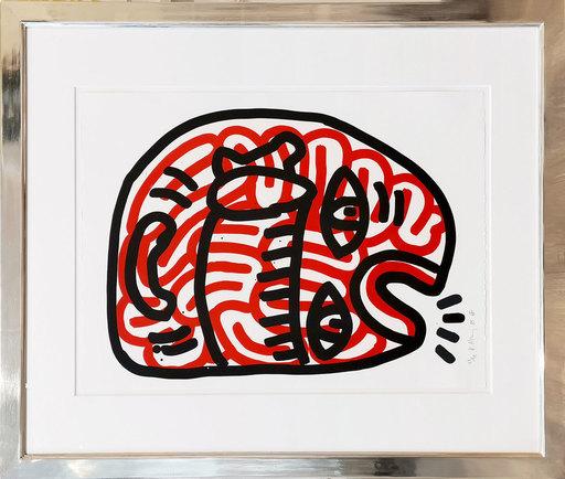 Keith HARING - Estampe-Multiple - Talking Brain