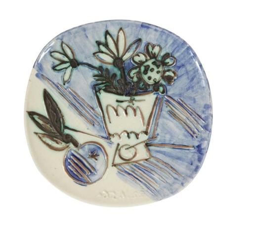 Pablo PICASSO - Cerámica - Bouquet à la pomme