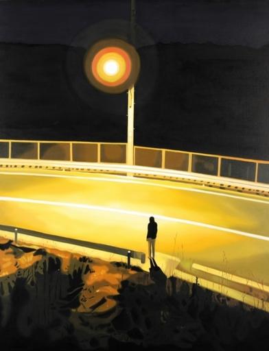 Masaaki SUZUKI - Pintura - Night sun