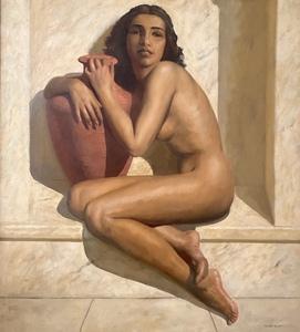 Marcel René HERRFELDT - Gemälde - A Young Beauty at the Baths