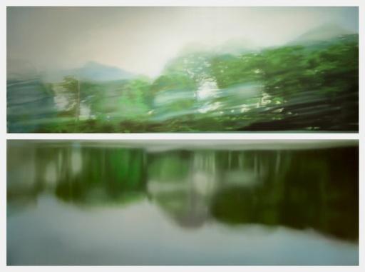 Jean-Marc AMIGUES - Pittura - Paysage lacustre