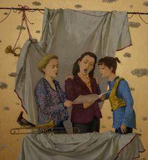 Tatjana PALCUKA - Painting - Trio fo Singer Girls    (Cat N° 6084)