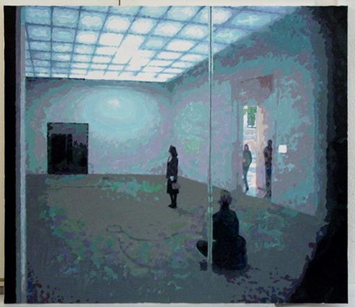 """François BOISROND - Peinture - Jeu video au plafond (Pavilion français Biennale Venise """"001"""