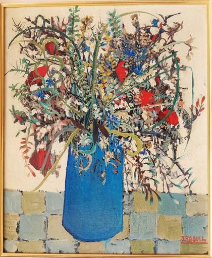 Louis TRABUC - Pintura - Vase de fleurs