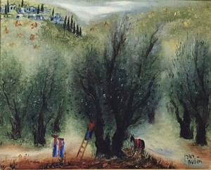 Reuven RUBIN - Painting - Olive Trees