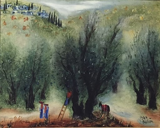 Reuven RUBIN - Pittura - Olive Trees