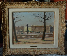 Raymond RENEFER - Peinture - Paris: Place de la Concorde