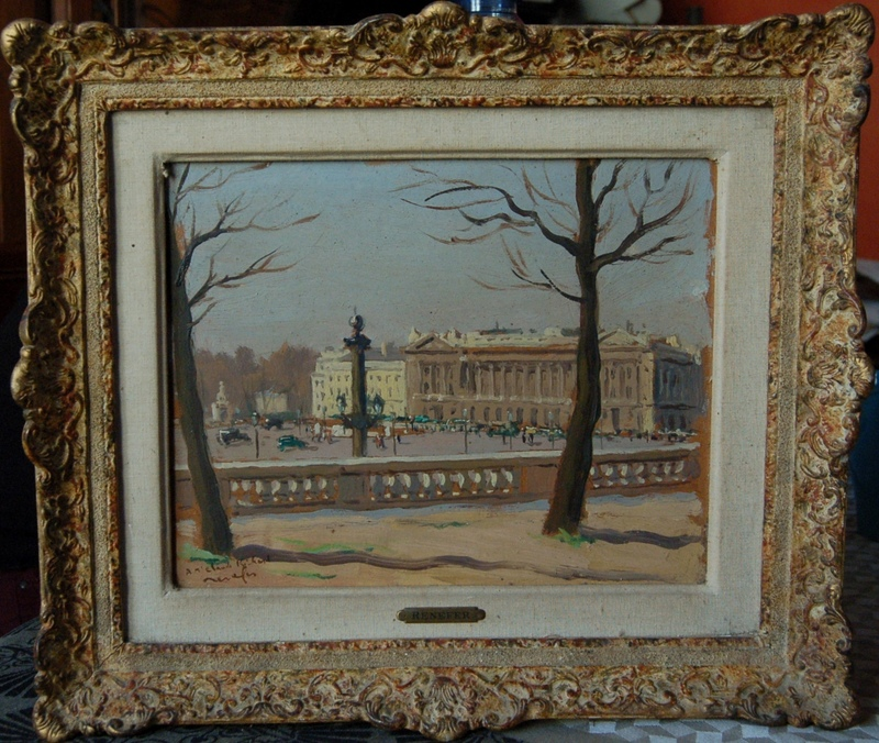 Raymond RENEFER - Pintura - Paris: Place de la Concorde