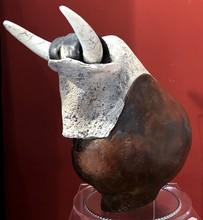 Christine JAMET - Sculpture-Volume - taureau marron