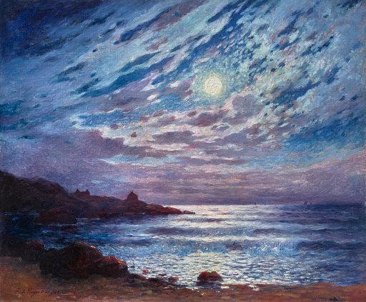 Ferdinand Loyen DU PUIGAUDEAU - Painting - Claire de lune
