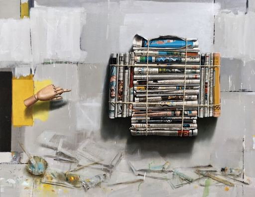 Manuel QUINTANA MARTELO - Pittura - OS DIARIOS SINALADOS IV