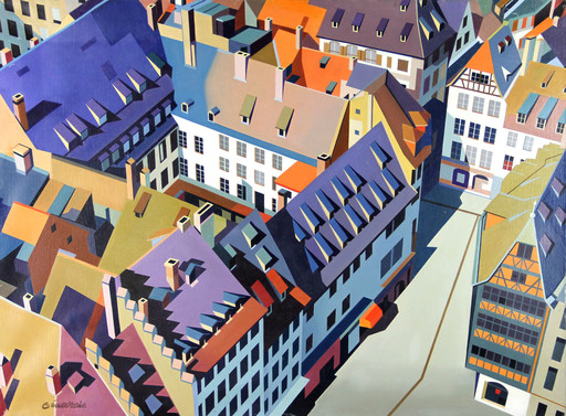 GENEVRAIE - Pintura - La maison Kamerszell à Strasbourg