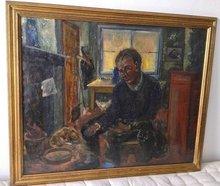Alfred PIETERCELIE - Peinture - man aan het werk