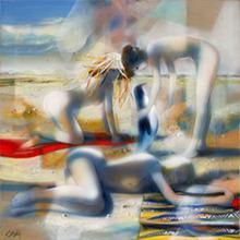 Jean-Baptiste VALADIÉ - Pintura - L'étranger