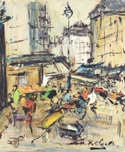 Georges BERGER - Painting - PARIS MONTMARTRE