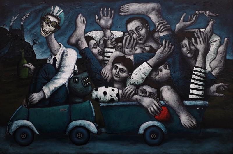 Nicolas MONJO - Painting - Quantités négligeables