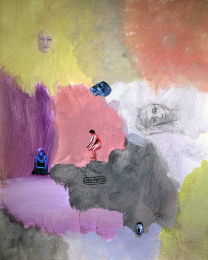 Tony OURSLER - Drawing-Watercolor - Cyclicalump, 2012 Januar