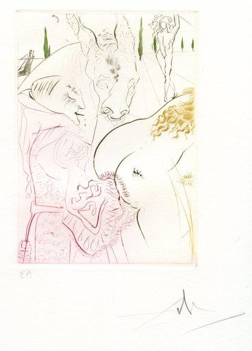 萨尔瓦多·达利 - 版画 - GRAVURE SIGNÉE CRAYON ANNOTÉE EA ML560 HANDSIGNED ETCHING