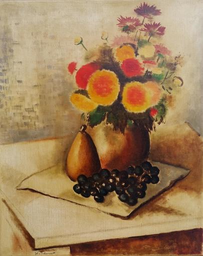Johann Wilhelm VON TSCHARNER - Pintura - Bouquet sur table