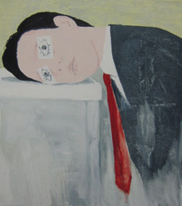 James RIELLY - Painting - Sleepy Head