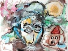 Saverio FILIOLI - Drawing-Watercolor - Il genio