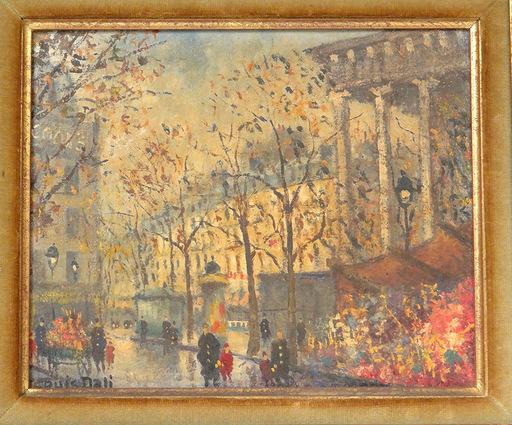 Louis DALI - Pintura - Pont Saint Michel et Place de la Madeleine, Paris