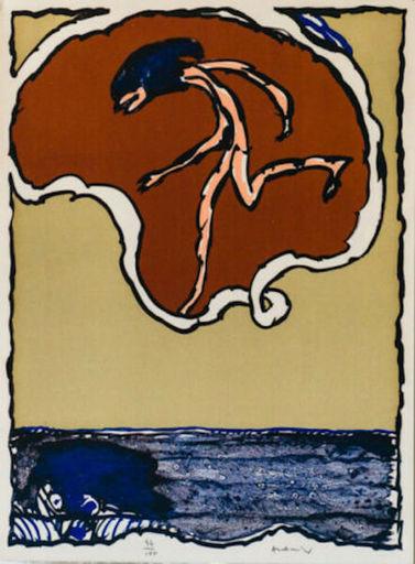 Pierre ALECHINSKY - Grabado - Worldly Flying Objects