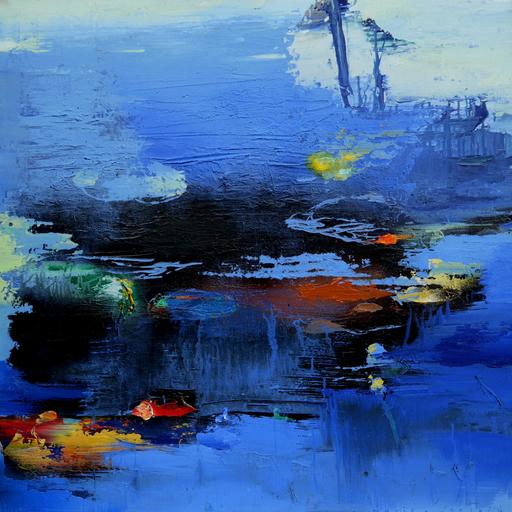 Moris GONTARD - Painting - Feux du couchant
